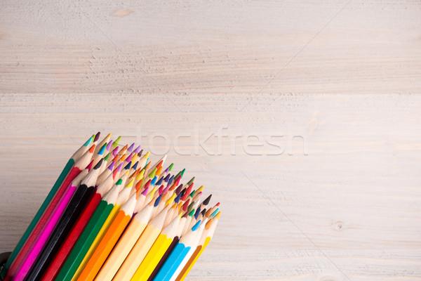色 鉛筆 木製 アレンジメント 光 ストックフォト © viperfzk