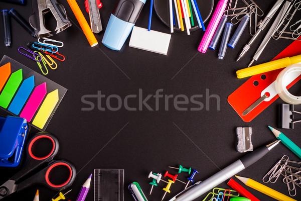 вокруг черный пространстве различный школы Сток-фото © viperfzk