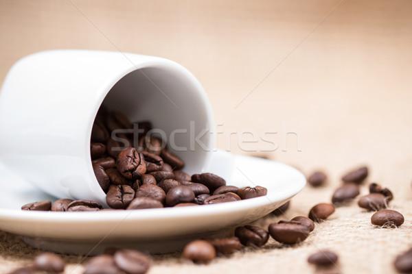 белый пластина текстуры кофе дизайна Сток-фото © viperfzk