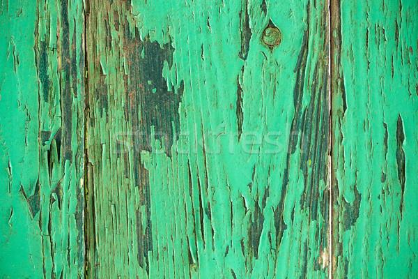 Klasszikus zöld viharvert fából készült tányér textúra Stock fotó © viperfzk