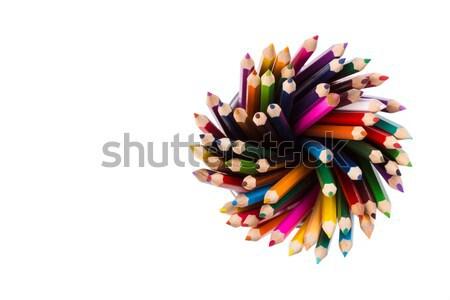 Szett szín ceruzák iroda festék fém Stock fotó © viperfzk