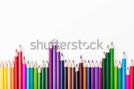 Szín ceruzák egyezség fehér köteg fa Stock fotó © viperfzk