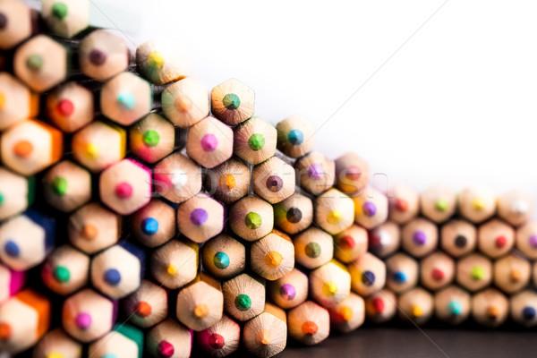 Close up shot of fading pencils pile Stock photo © viperfzk