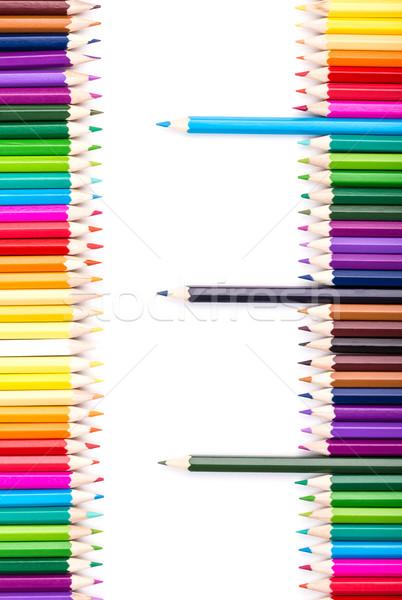 色 鉛筆 3  立って 外に 右 ストックフォト © viperfzk