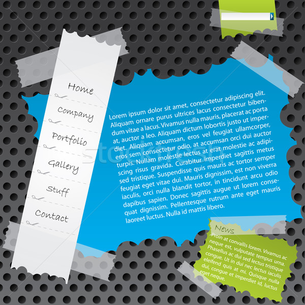 Ripped paper website template design Stock photo © vipervxw