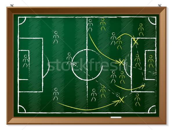 Calcio tattica lavagna gesso erba Foto d'archivio © vipervxw