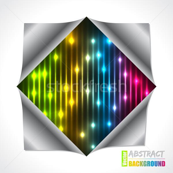 Cool плазмы лазерного брошюра дизайна сложенный Сток-фото © vipervxw