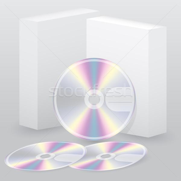 два окна диска набор три дизайна Сток-фото © vipervxw