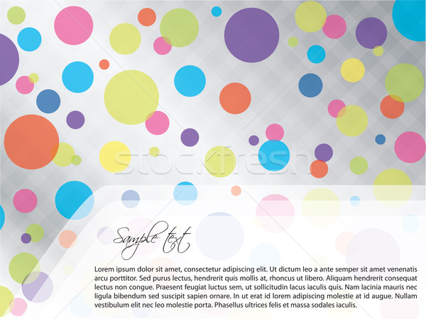 Light dotted brochure design Stock photo © vipervxw