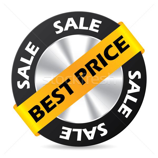 Legjobb ár kitűző terv fehér bolt fekete Stock fotó © vipervxw