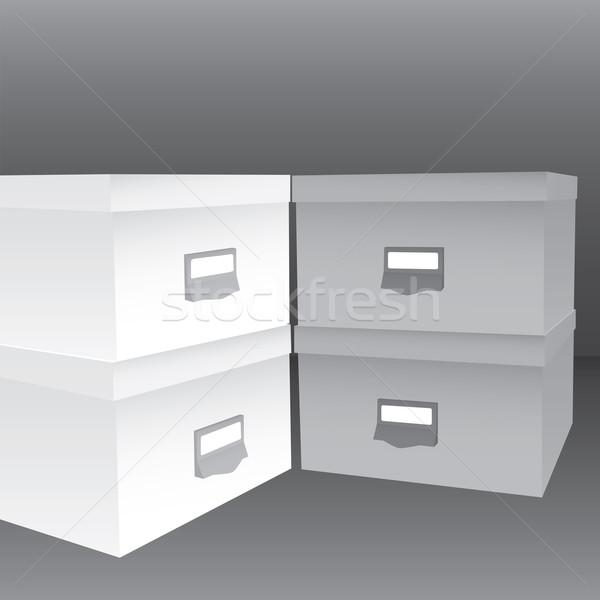 3d illustration of closed boxes Stock photo © vipervxw