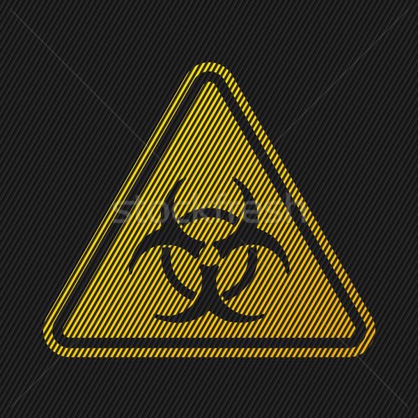 Bio hazard podpisania pasiasty czarny komunikacji Zdjęcia stock © vipervxw