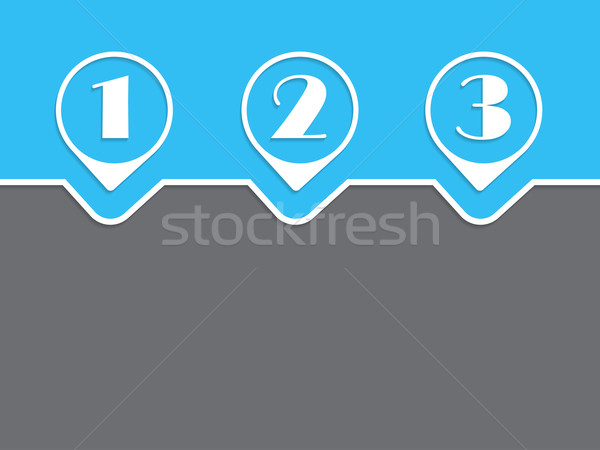 Simple infographic with white grades on blue gray background Stock photo © vipervxw
