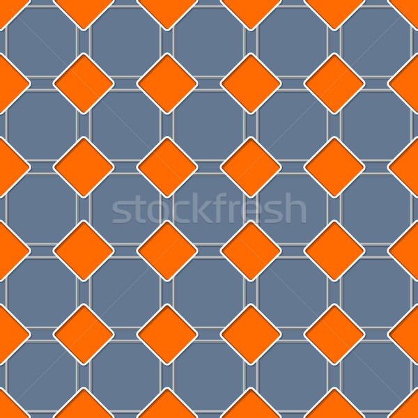Seamless rhomb pattern with 3d effect Stock photo © vipervxw