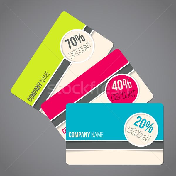 Geschenk kaarten gift card ingesteld kleuren Stockfoto © vipervxw