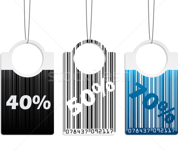 Bar coded label set Stock photo © vipervxw