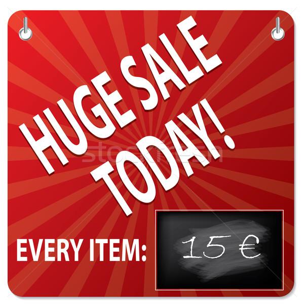 Vente bord tableau noir prix modification affaires Photo stock © vipervxw