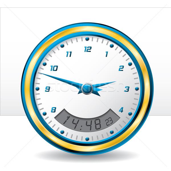 Analog and digital wall clock  Stock photo © vipervxw