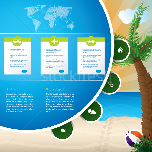 Summer holiday website template design Stock photo © vipervxw