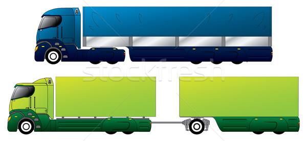 Aerodinamik kamyonlar tasarımlar farklı iş araba Stok fotoğraf © vipervxw