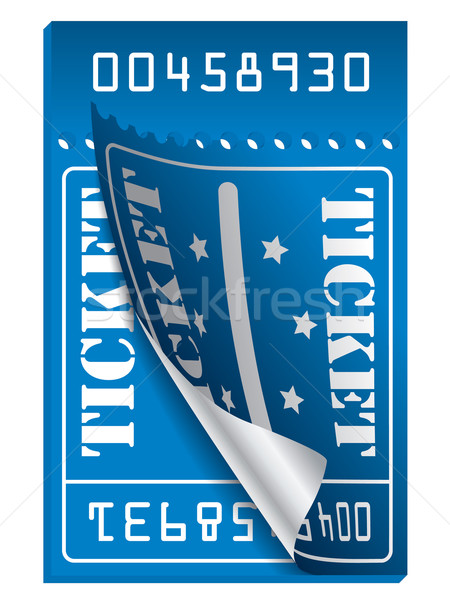 Blue ticket to be torn  Stock photo © vipervxw