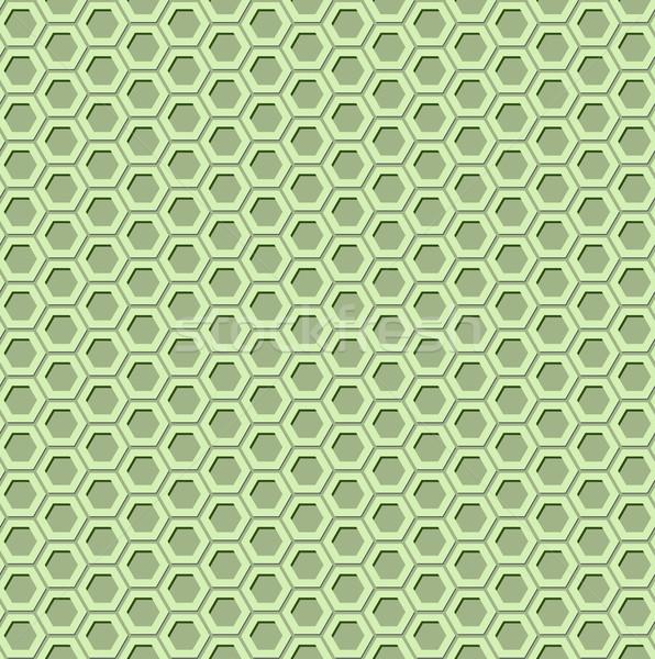 Groene zeshoek 3D effect weefsel Stockfoto © vipervxw