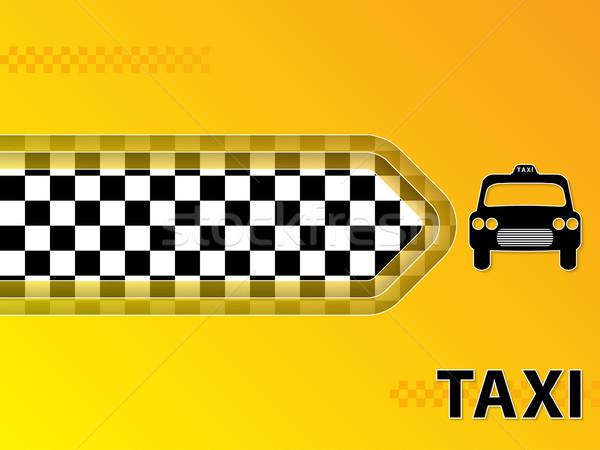 Taxi advertising background with cab and arrow Stock photo © vipervxw