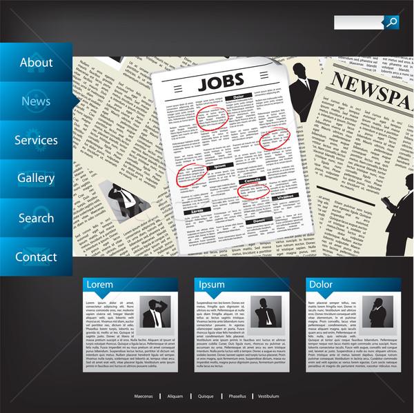 News website template design Stock photo © vipervxw