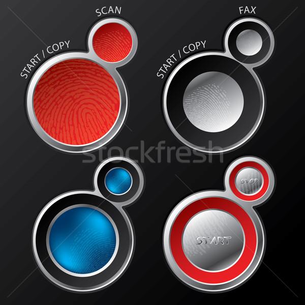 ボタン 背景 金属 ウェブ 黒 ストックフォト © vipervxw
