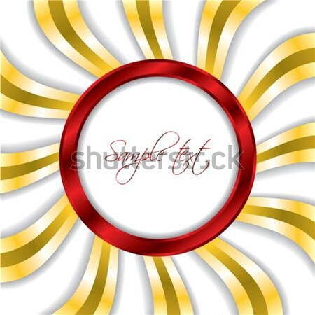 Red ring with gold twirls background  Stock photo © vipervxw
