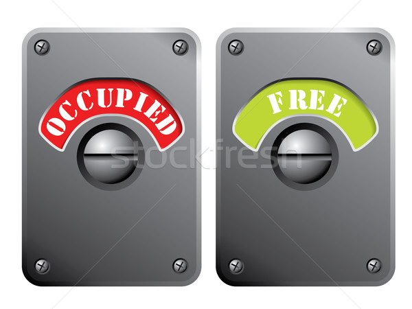 Stock photo: Occupied and free signs