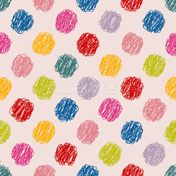 Scribbled dots color pattern background Stock photo © vipervxw
