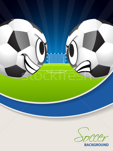 Soccer match advertisimg poster brochure Stock photo © vipervxw
