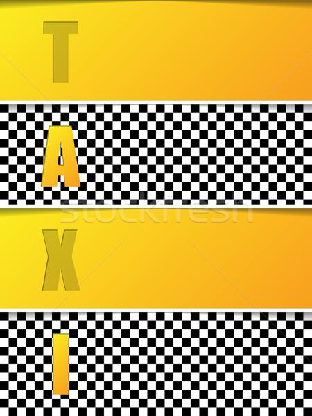 аннотация такси брошюра шаблон оранжевый Сток-фото © vipervxw
