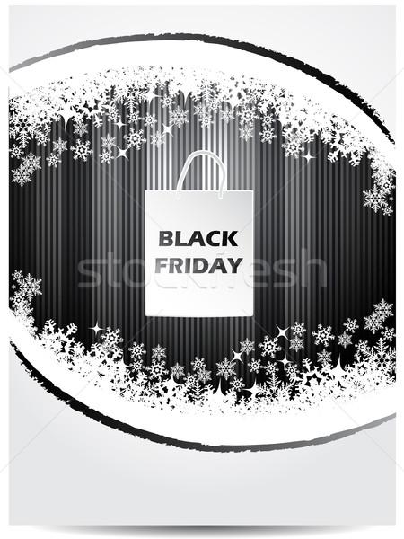 Black friday publicidade bolsa de compras natal negócio fundo Foto stock © vipervxw