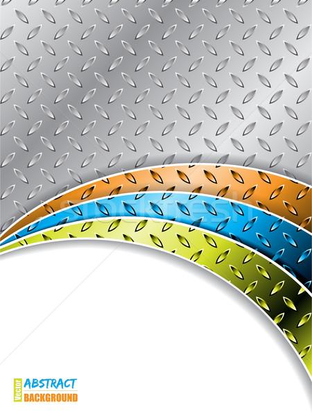 Ipari szín hullámok fémes terv textúra Stock fotó © vipervxw