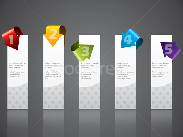 Advertising label set with cool arrows Stock photo © vipervxw