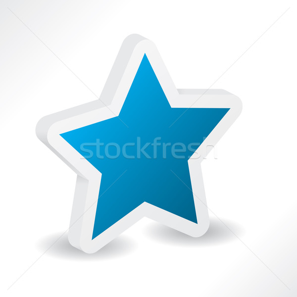 star shape extruded in 3d  Stock photo © vipervxw