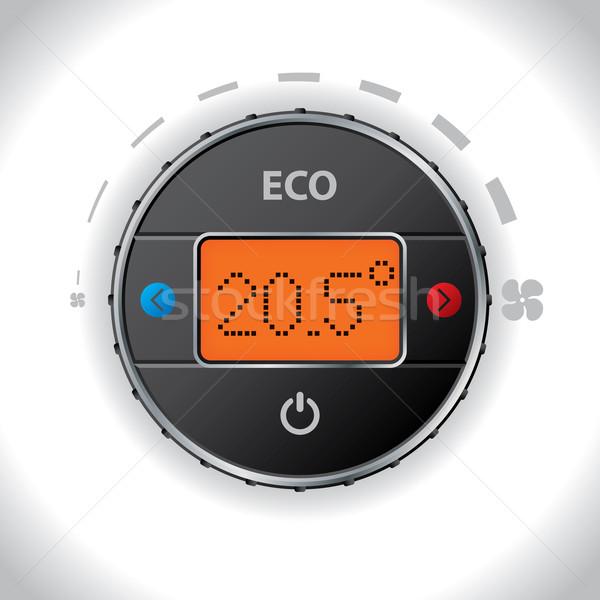 Auto lucht voorwaarde knop display ontwerp Stockfoto © vipervxw