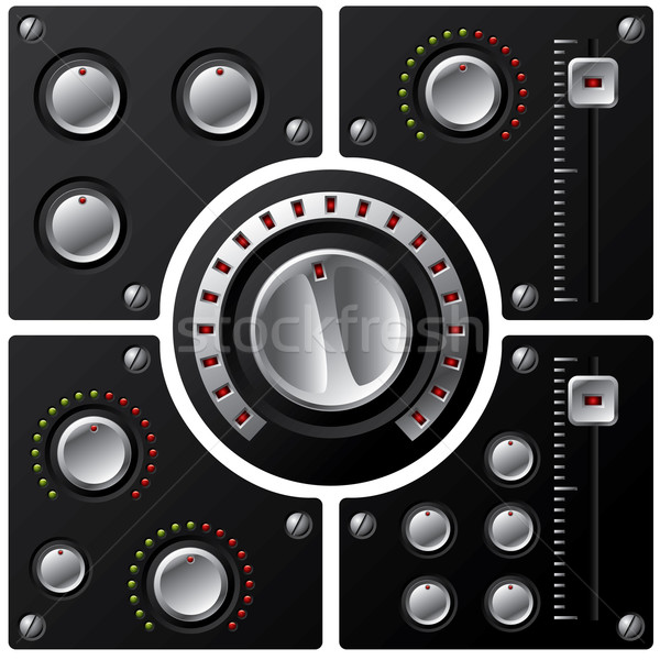 Hifi fő- hangerő irányítás zene fém Stock fotó © vipervxw