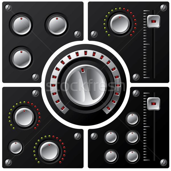 Hoofd- volume controle muziek metaal Stockfoto © vipervxw