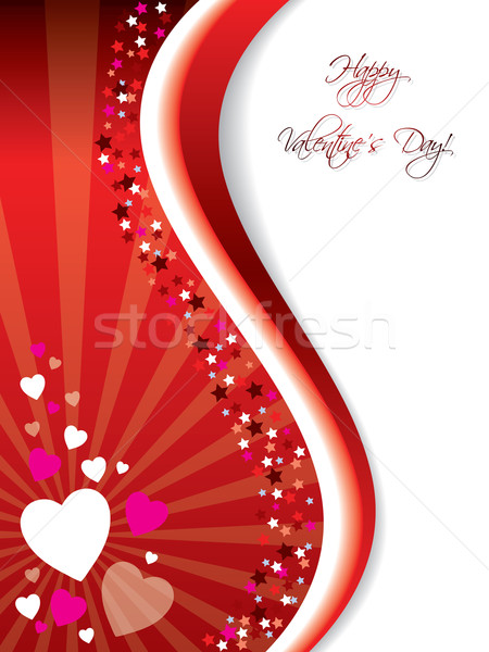 Bursting Valentine card  Stock photo © vipervxw