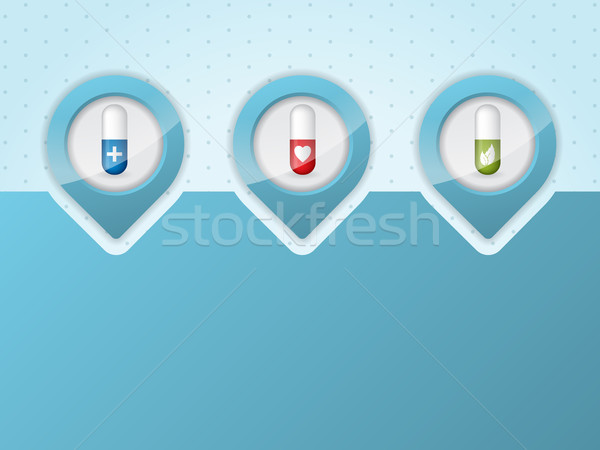 Medical infographic background design Stock photo © vipervxw