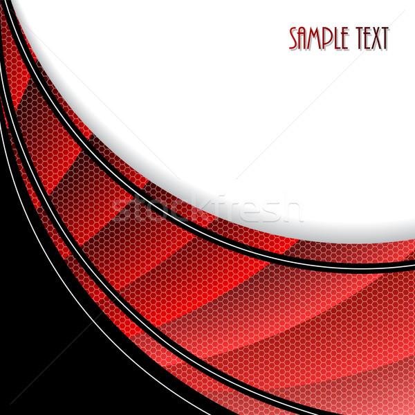 аннотация брошюра шестиугольник волны дизайна красный Сток-фото © vipervxw