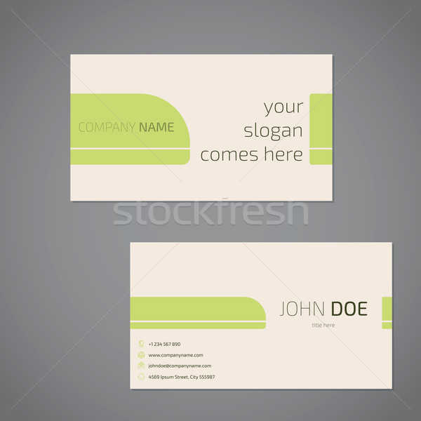 Simplistic business card design with slogan Stock photo © vipervxw
