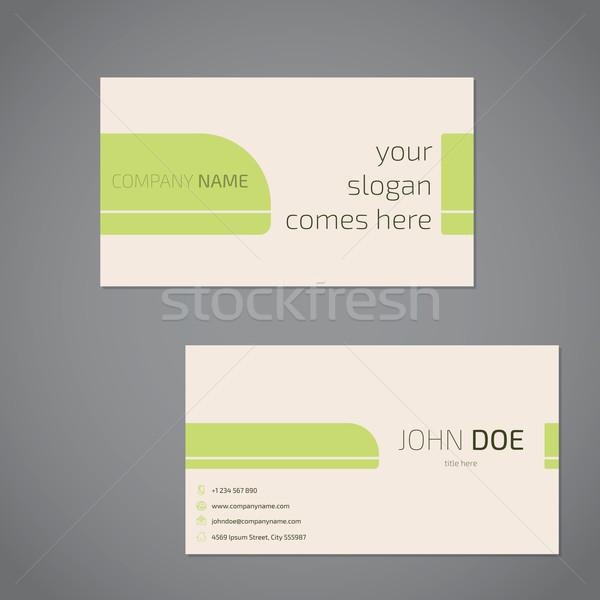 Carte de visite design slogan société données texture Photo stock © vipervxw