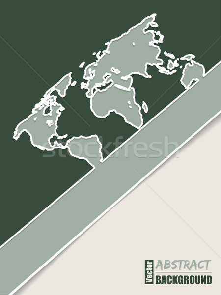 Corporate brochure design in green with world map  Stock photo © vipervxw