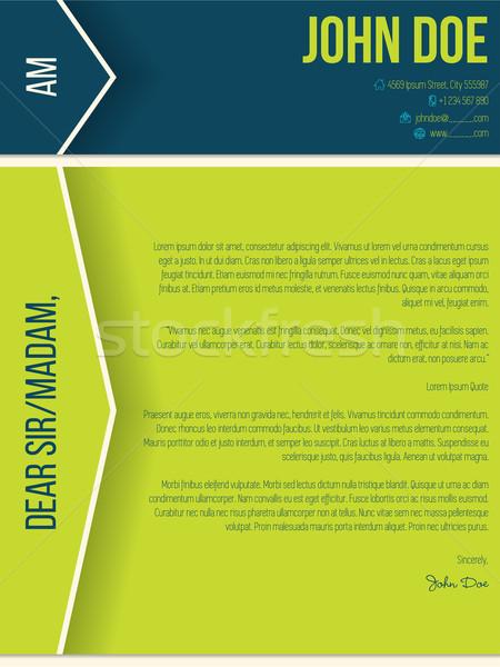 Modern borító levél önéletrajz cv nyilak Stock fotó © vipervxw