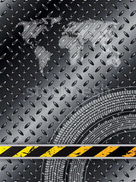 Industrial background in black with tire treads Stock photo © vipervxw