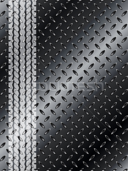 Industrial background with truck tyre on black metallic mesh Stock photo © vipervxw